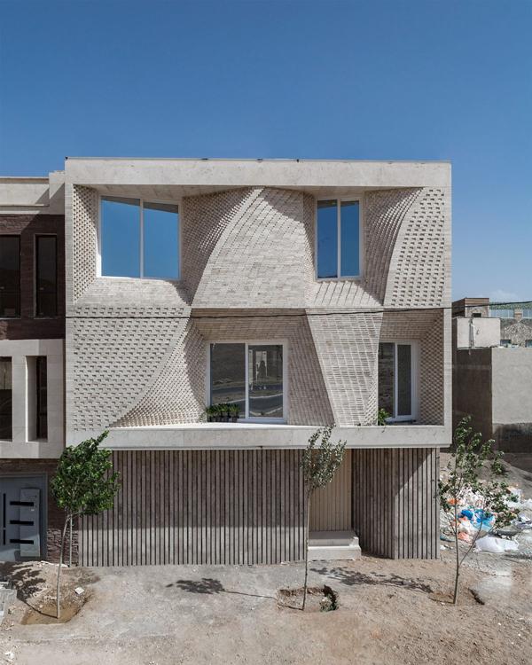نمای خانه ویلایی ساده یک طبقه
