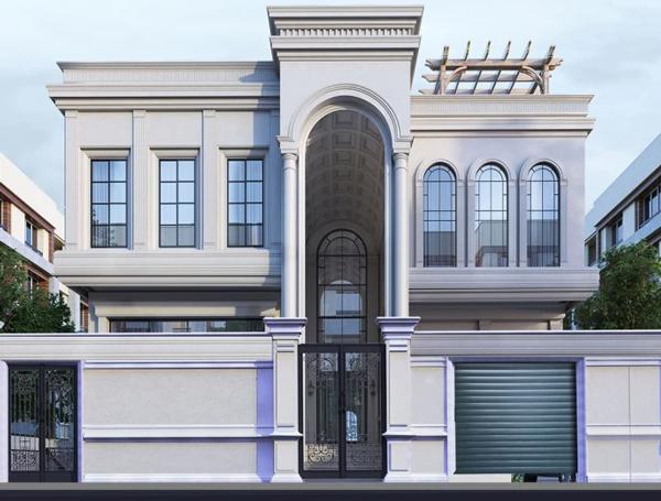 طراحی نمای ویلایی ساختمان