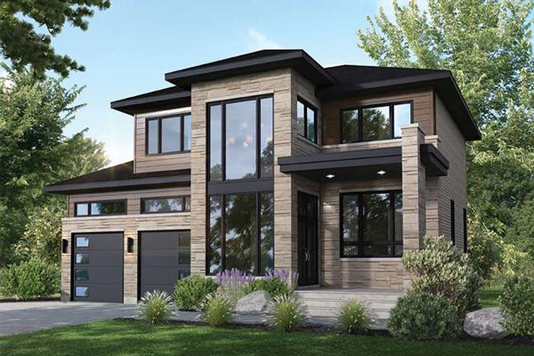 طراحی نمای بیرونی ساختمان ویلایی
