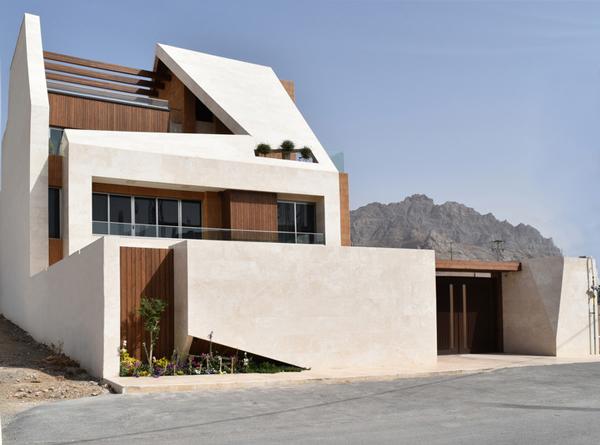 طراحی نمای ساختمان ویلایی مدرن