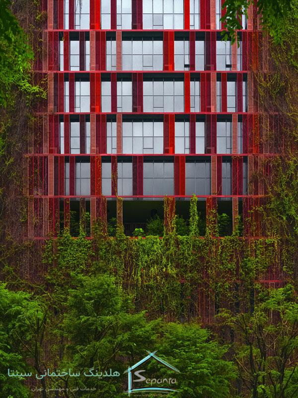 نمای سبز ساختمان و حذف آلاینده ها
